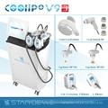 Multifunción de salón de belleza de crioterapia cavitación rf de la máquina- coolipo v9iii