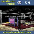 Truss de iluminación de elevación/curvo de aluminio armadura/truss torre de iluminación
