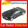 車のスピードレーダー探知機gpsナビゲーターのための英語ロシア語ledディスプレイ付き