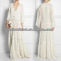 Moda 2014 belo vestido maxi, vestido de renda elegante (NTF04083)