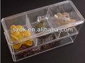 acrílico transparente cajas compartimiento de almacenamiento con tapa
