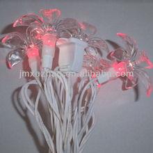 blanco 10l ul alambre 10m c6 led rojo mini flor cadena de luces