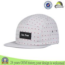 5 panel de sombreros con puntos de impresión sombreros de buena calidad para hombres