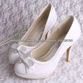 rendas branco sapatos de noiva