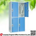 Acier 2 niveau 4 personnelservice casier porte, 4 personne de stockage cabinet almirah, métallique suspendu placard.