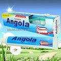 la nueva pasta de dientes con el cepillo de Angola
