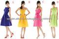 vestir colores dama de honor del cortocircuito del satén barato