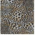 tejido de punto jersey con estampado animal y del bordado de lentejuelas