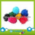 Pompones Brillantina variados, decoración de la Navidad del pom pom, niños bricolaje artesanal Pompones