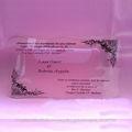 transparente de acrílico transparente de la boda tarjeta de invitación
