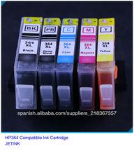 De alta calidad cartucho de tinta recargables para hp364/564/862/920 con reset chip para hp cartucho 364xl