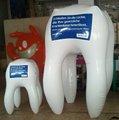 diente modelo inflable para la promoción, diente inflable gigante