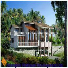 plan de villa y la construcción