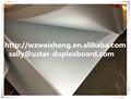 300g cartão duplex revestido com cinza de volta folha de papel alumínio, produtos da china