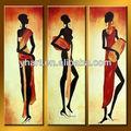 venta al por mayor abstracta desnudo sexy chica de la pintura de áfrica de arte de la pared