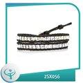 [TTT Jóias] 2014 moda atacado contas de vidro branco embrulhar pulseiras braço jóias