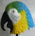 lovely mascarada fantasia vestido de látex mascote de peixe papagaio apetrechos deluxe papagaio verde máscara com ce