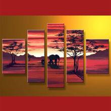 caliente venta de hechos a mano paisaje pintura de aceite decoración