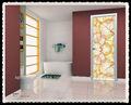 Joenony aluminio marco de cristal interior Eco puerta sólida puerta de la habitación
