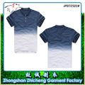 Bueno Calidad de Dncargo 100% Algodón Dip Tinte Gradient Color Polo T-Shirt