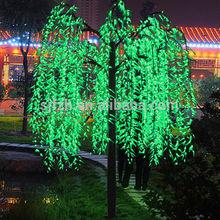 Venta caliente en espiral iluminado árbol de navidad, led iluminado sauce del árbol de navidad