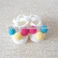 Atacado de moda de confecção de malhas do crochet sapatos recém-nascido