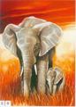 los últimos diseños africa elefante pintura sobre lienzo para la decoración