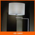 Branco tecido caseiro hotel lâmpada de assoalho ajustável kd-12801 atacado