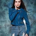 2014 sanxiaofu harley chaqueta de cuero para damas