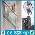 exterior de acero inoxidable barandas de vidrio framless de escalera