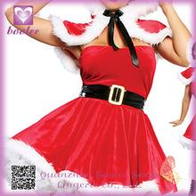 2014 trajes del vestido de la Navidad al por mayor de dulce rojo FC057