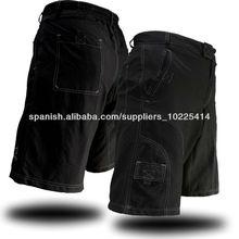 bicicleta de montaña holgados hombres jean pantalones cortos de ciclista con almohadilla opción
