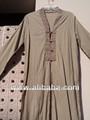 Arabe. caftans de coton teints à manches longues pour femmes vêtements pour hommes caftans&