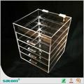 Hot sale clear acrylic cosmetic display rack