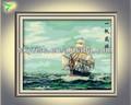 moderno barco abstracto pintura al óleo para la decoración del hogar