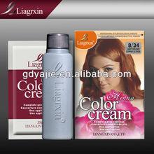 Uso de la familia orgánica del tinte del pelo, henna orgánica crema para el cabello