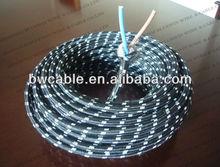De algodón trenzado de goma de aislamiento del cable de alimentación vde h03rt-h alambre de goma