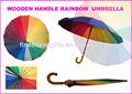 16k del arco iris de color del arco iris paraguas paraguas de golf del metro paraguas de golf