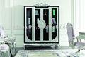Muebles de estilo europeo elegante real 4- biblioteca puerta/estilo francés yz-a7022 estantería