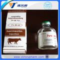 Inyección de líquido para los animales