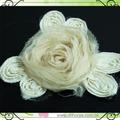 flor de gasa para el vestido de los niños de la decoración
