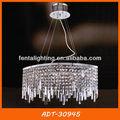 Moderna de gran tamaño de gotas de cristal colgante de la lámpara para el hotel gran hall adt-30945