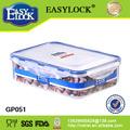 Las cookies almacenan 1650ml transparente rectangular envases de plástico para alimentos: PP y libre de BPA