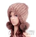 Las mujeres cx-c-131a pieles de visón punto divertido de estilo ruso sombreros de invierno