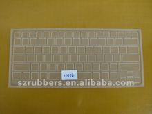 transparente de silicona teclado cubierta del ordenador