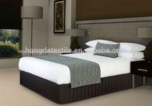 100% 250tc de algodón de satén liso hotel hoja de cama