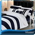 venta caliente blanco y negro del hotel de lujo de retazos de ropa de cama conjunto