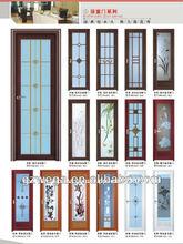 Diversos tipos para opcional! Cuarto de baño serie puerta abatible/cuarto de baño de cristal de la puerta de la serie