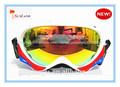 2014 venta caliente gafas de nieve anti uv personalizado fresco gafas de esquí de del fabricante de china