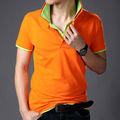nuevo diseño de color naranja de la camisa de polo